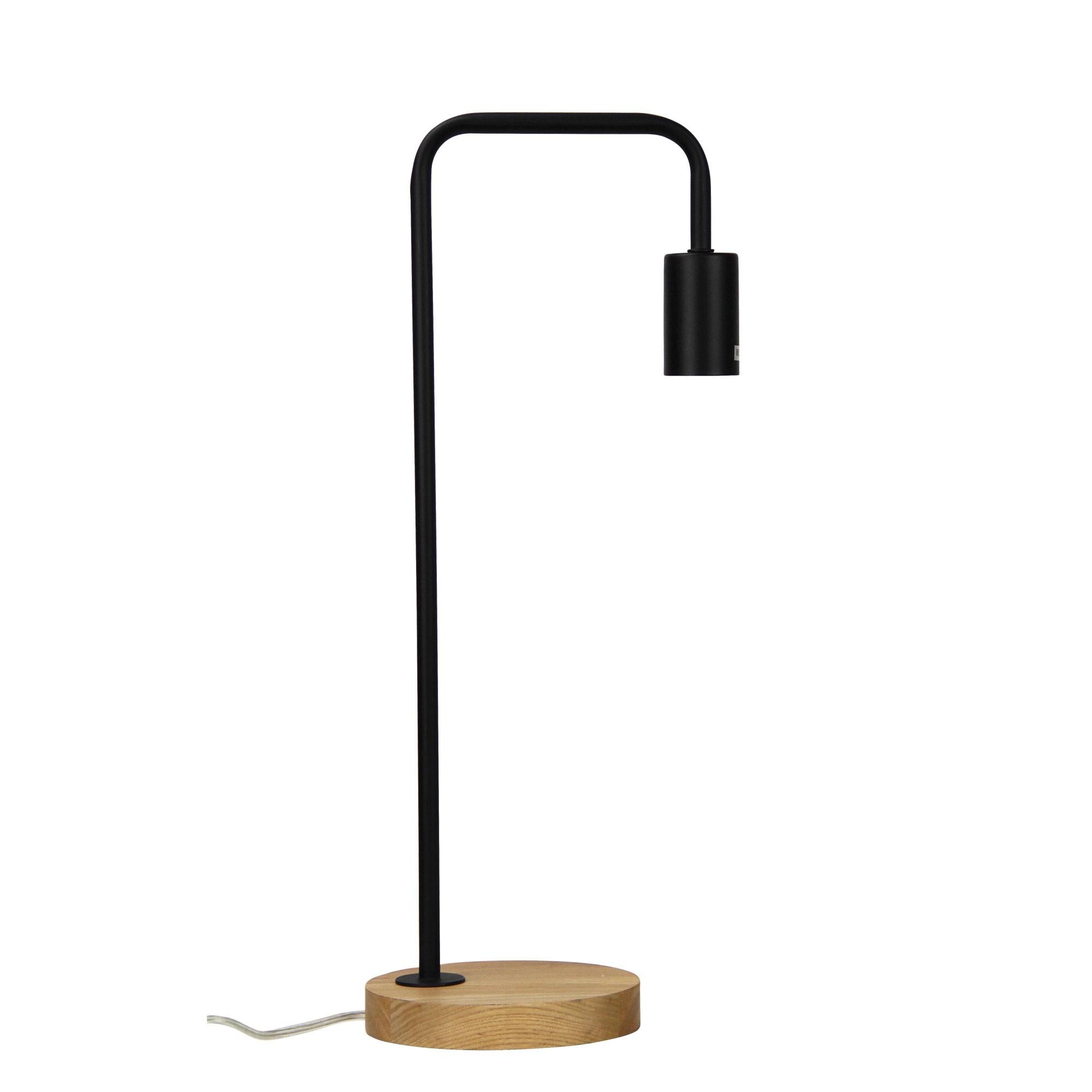 Lane Timber & Metal Table Lamp, Black