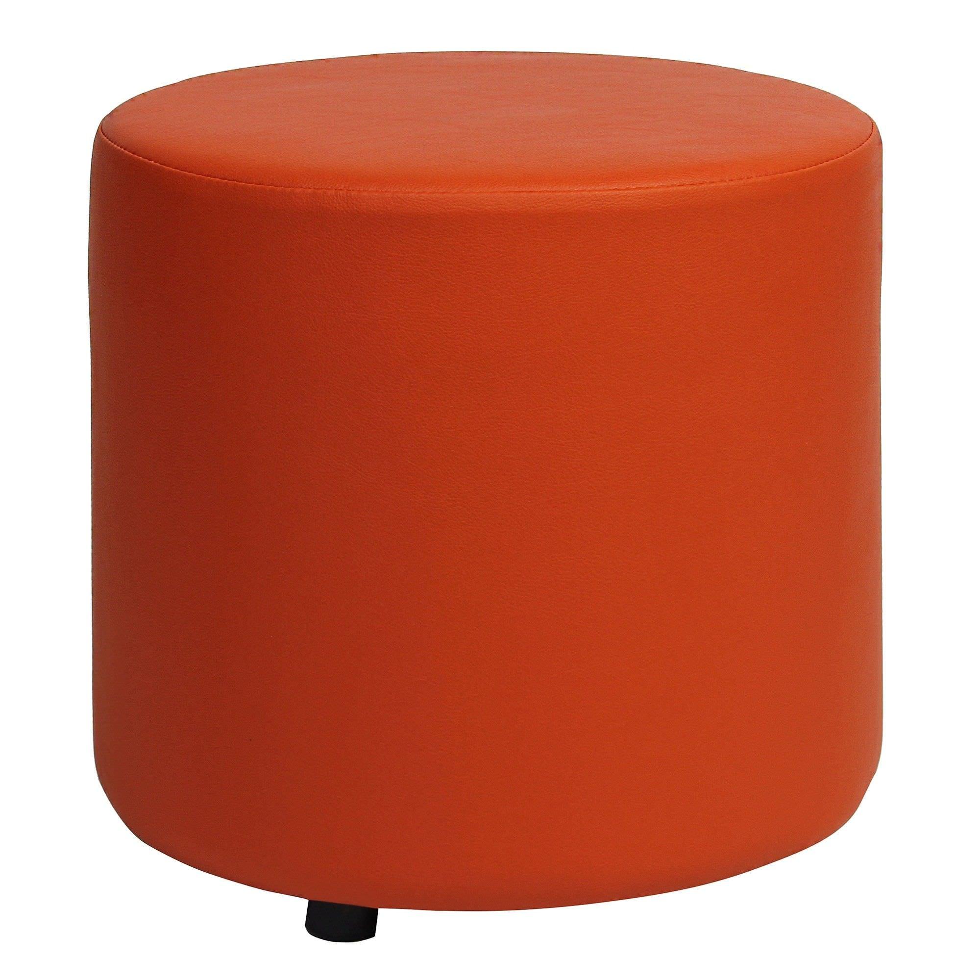 Blob V2 Commercial Grade Vinyl Round Ottoman - Orange