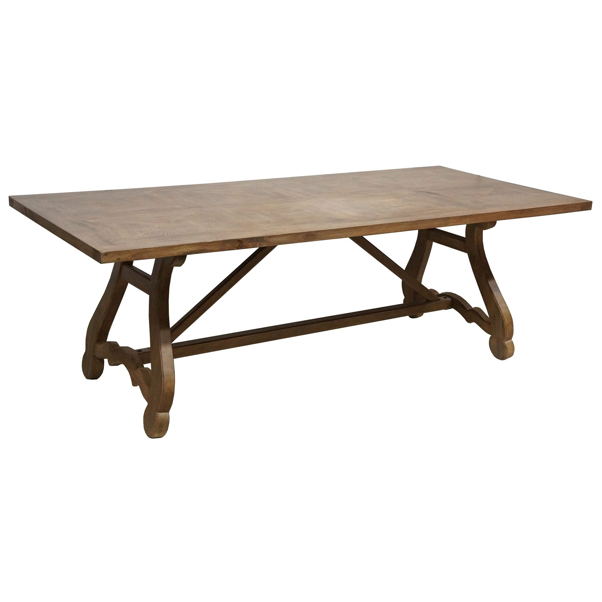 Parkham Solid Mango Wood Timber 220cm Dining Table