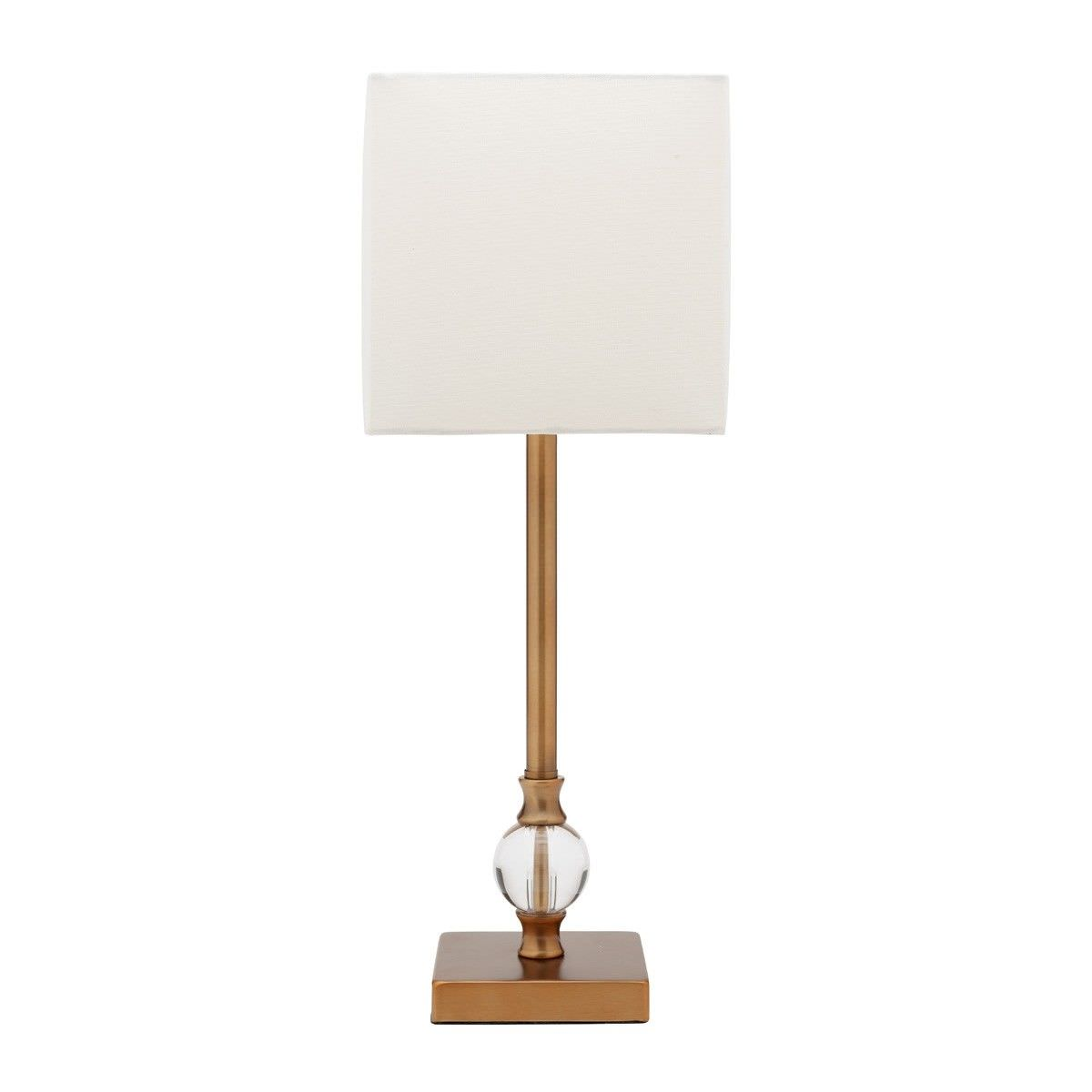 Roland Table Lamp, Aged Brass