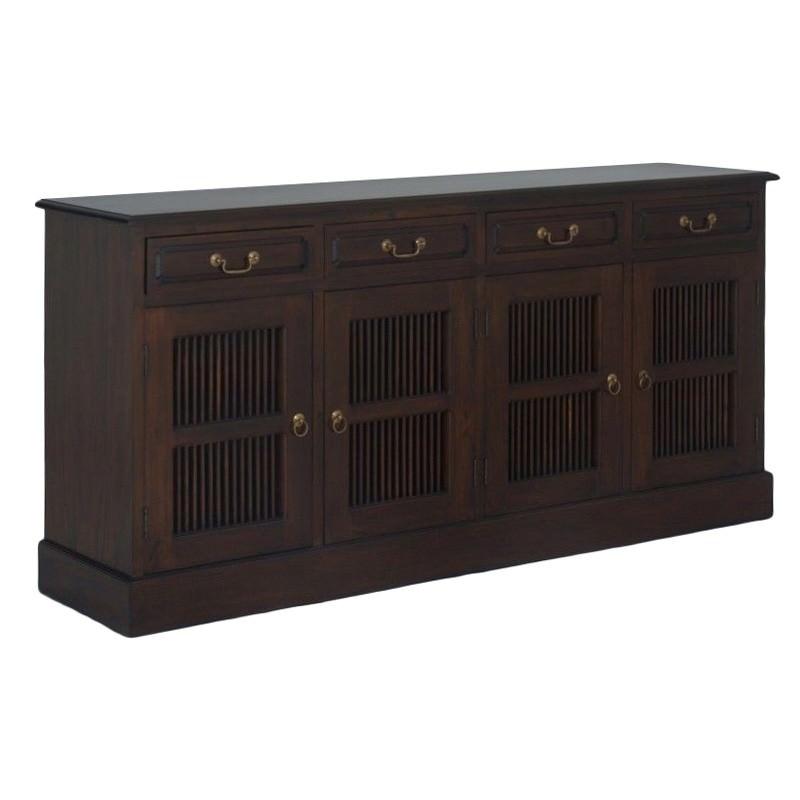 Ruji Solid Mahogany Timber 4 Door 4 Drawer 190cm Sideboard - Mahogany
