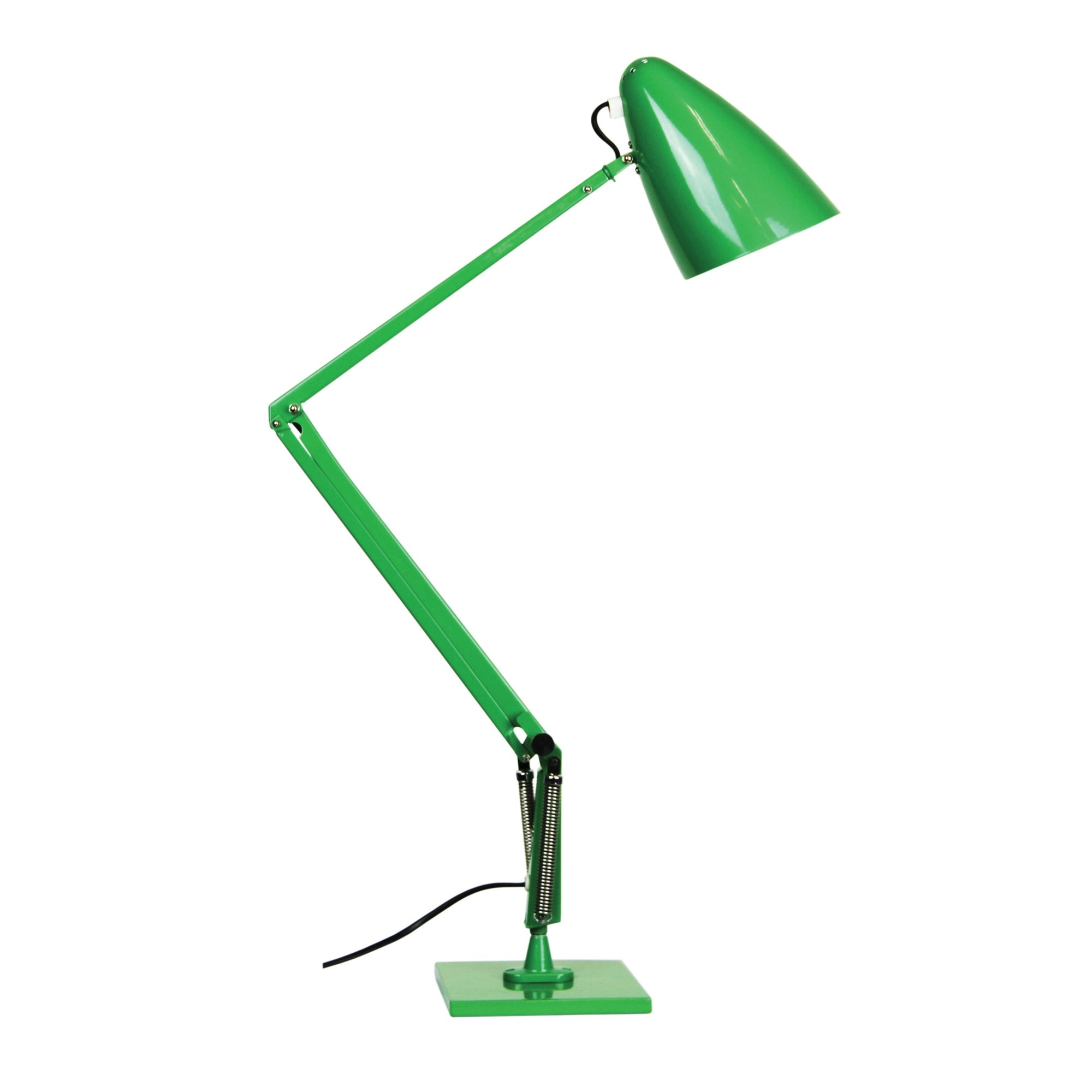 Lift Reproduction Anglepoise Desk Lamp, Green