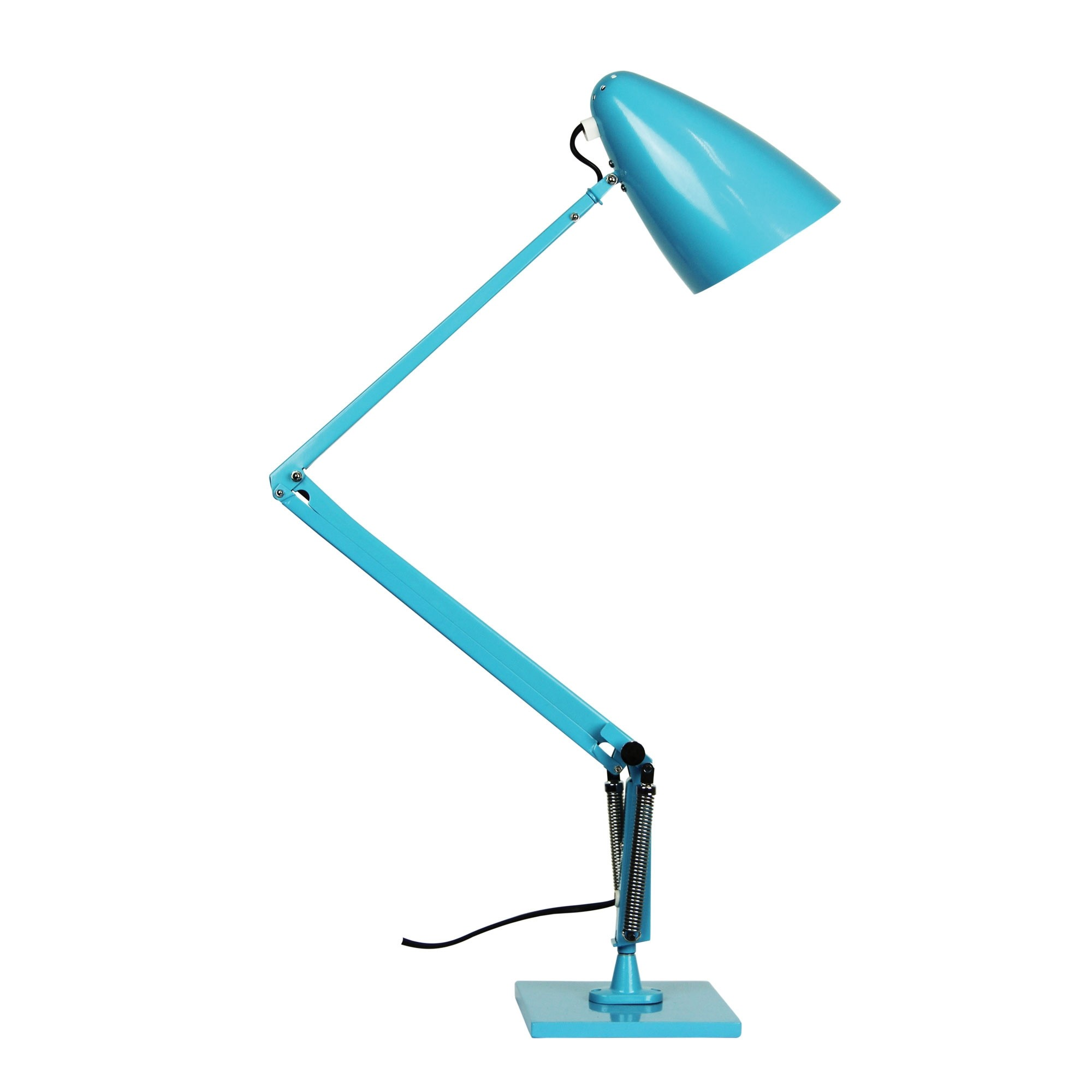 Lift Reproduction Anglepoise Desk Lamp, Teal