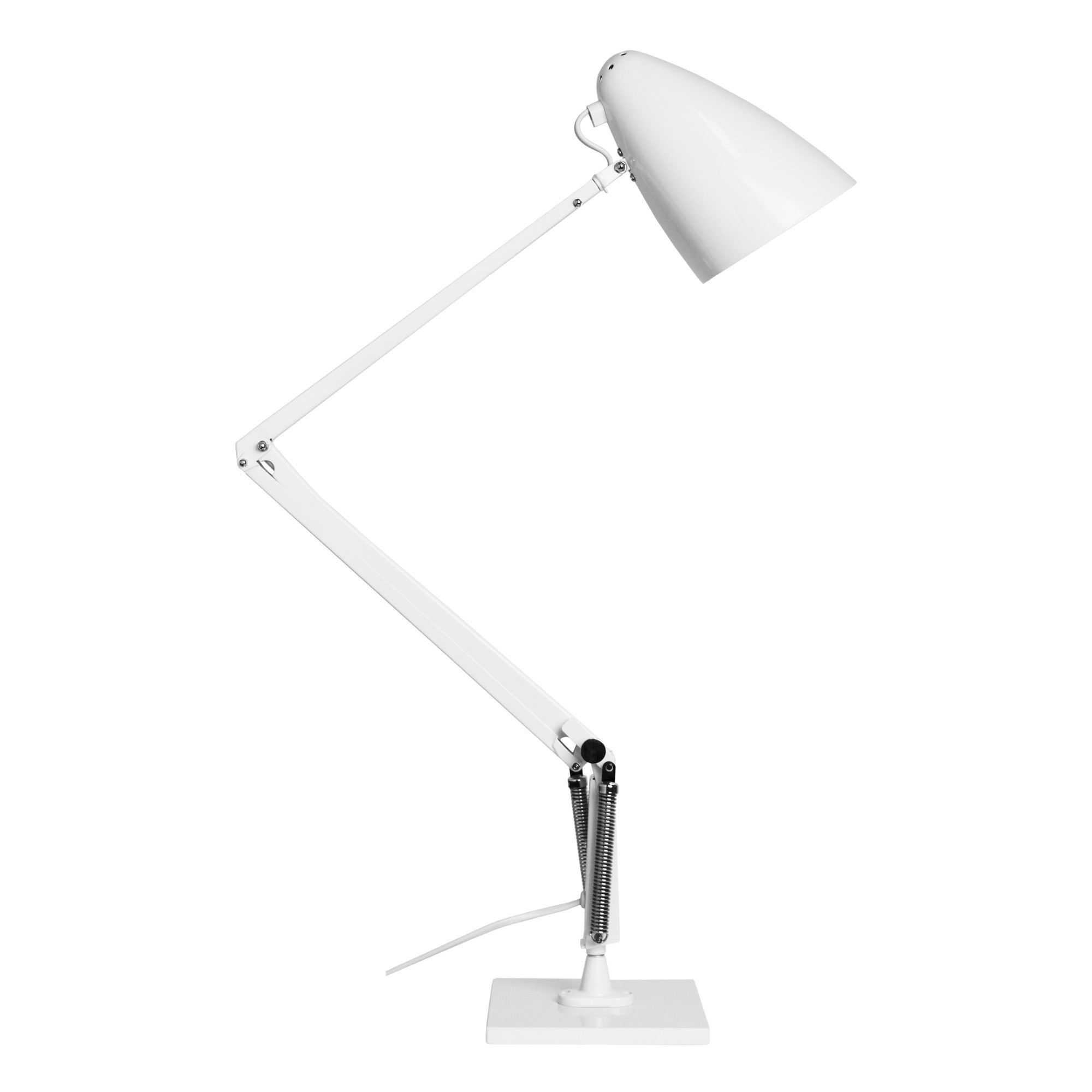 Lift Reproduction Anglepoise Desk Lamp, White