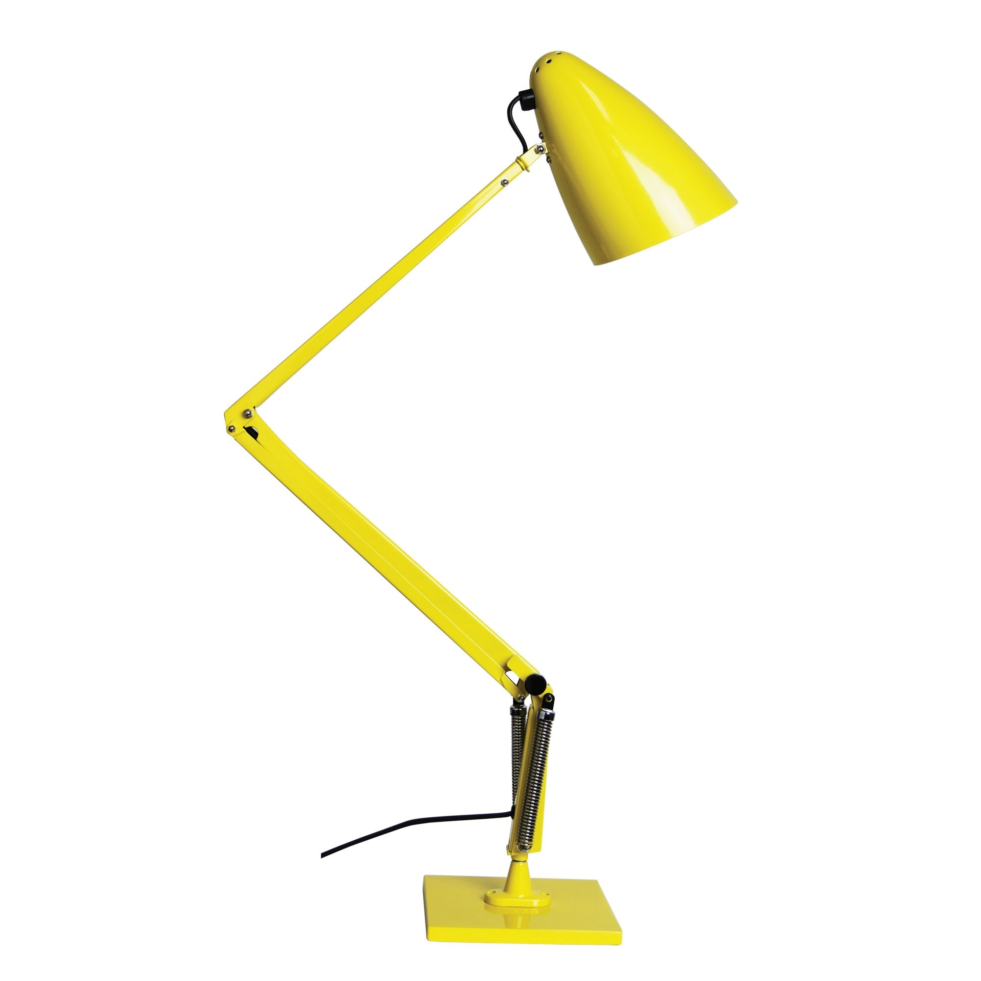 Lift Reproduction Anglepoise Desk Lamp, Yellow