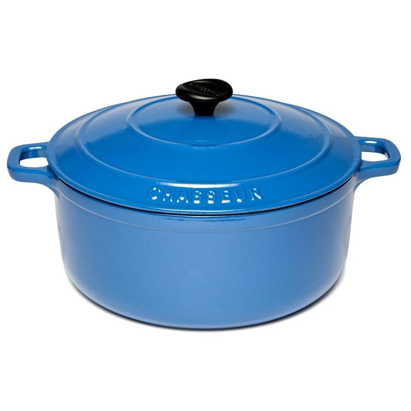 Chasseur Cast Iron Round French Oven, 28cm, Sky Blue