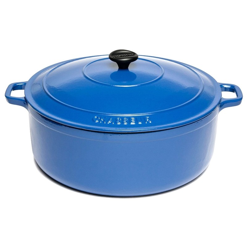 Chasseur Cast Iron Round French Oven, 32cm, Sky Blue