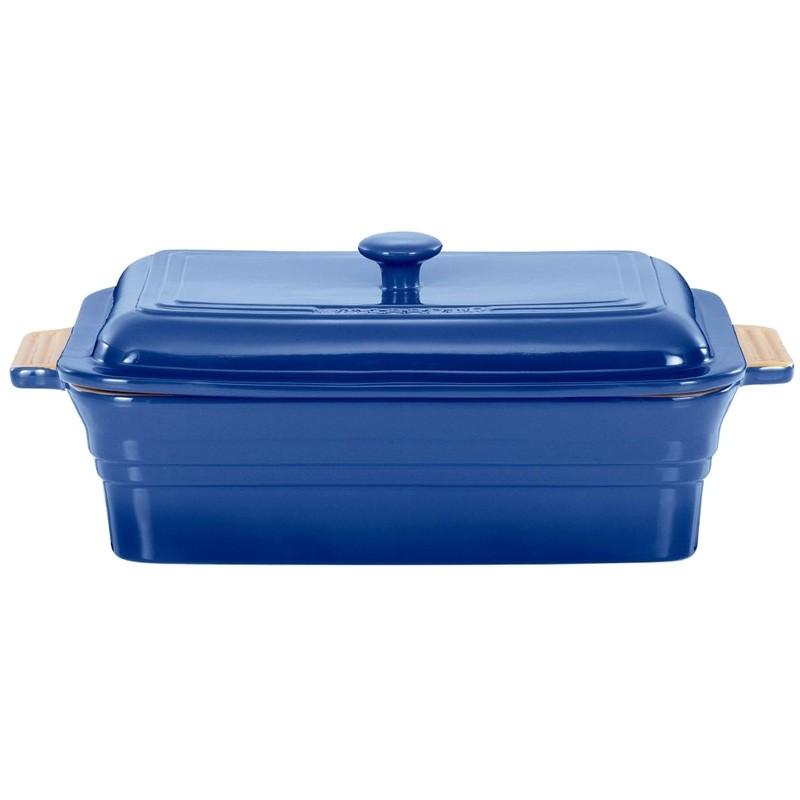 Chasseur La Cuisson 40x23cm Rectangular Baker with Lid - Blue