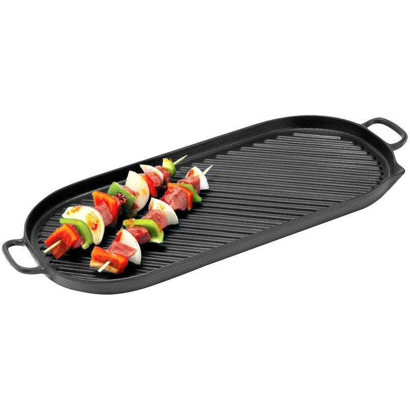 Chasseur Cast Iron Oval Stove Top Grill, 46x23cm
