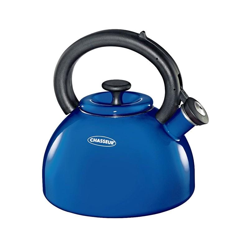 Chasseur Domus 2.5 Litre Enamelled Whistling Kettle - Blue