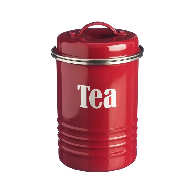 Typhoon Vintage Kitchen Tea Canister - Red