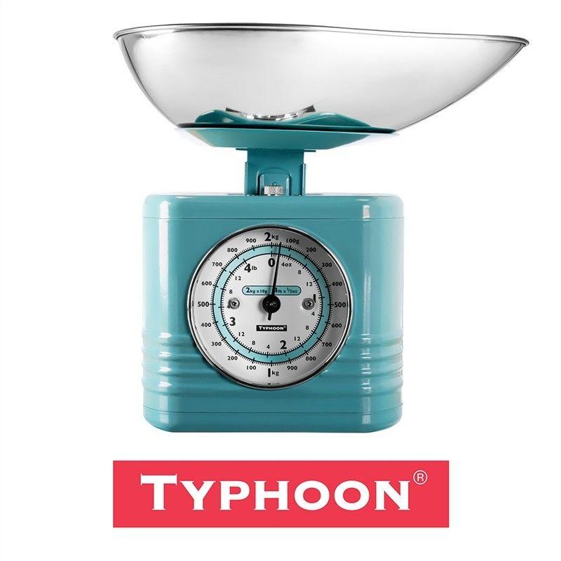 Typhoon Vintage Kitchen Scales - Blue