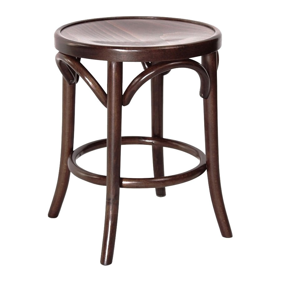 Florence Polish Made Commercial Grade European Beech Timber Table Stool, Walnut