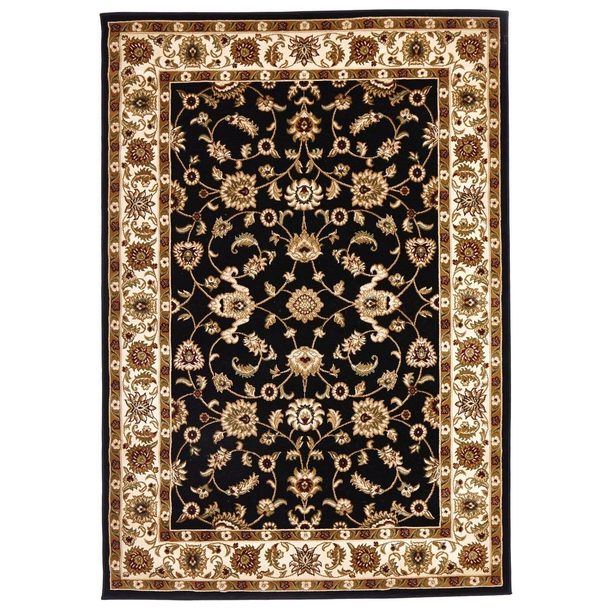 Sydney Classic Turkish Made Oriental Rug, 230x160cm, Black / Ivory
