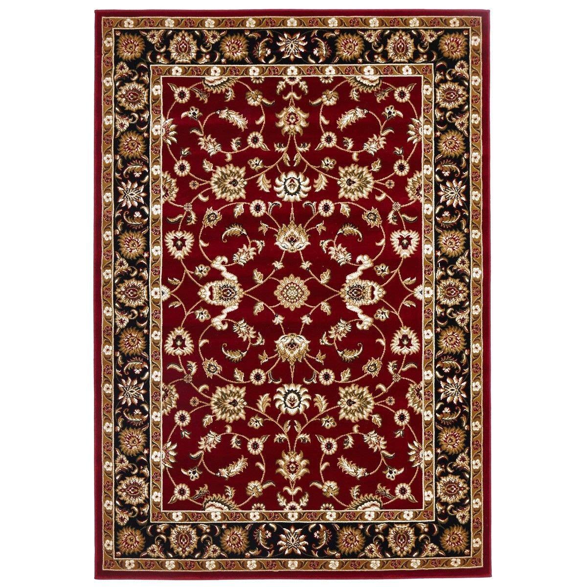 Sydney Classic Turkish Made Oriental Rug, 170x120cm, Red / Black