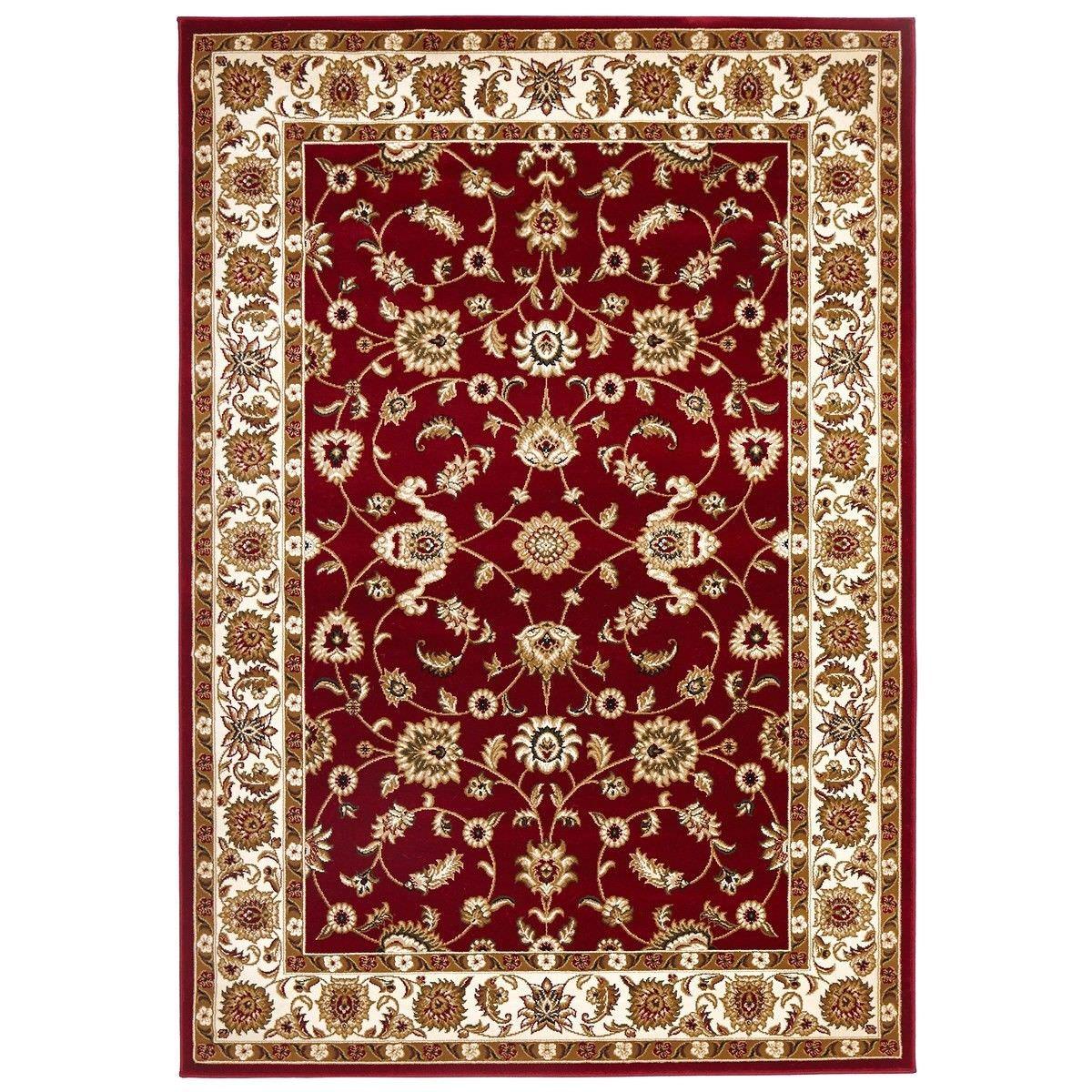Sydney Classic Turkish Made Oriental Rug, 170x120cm, Red / Ivory