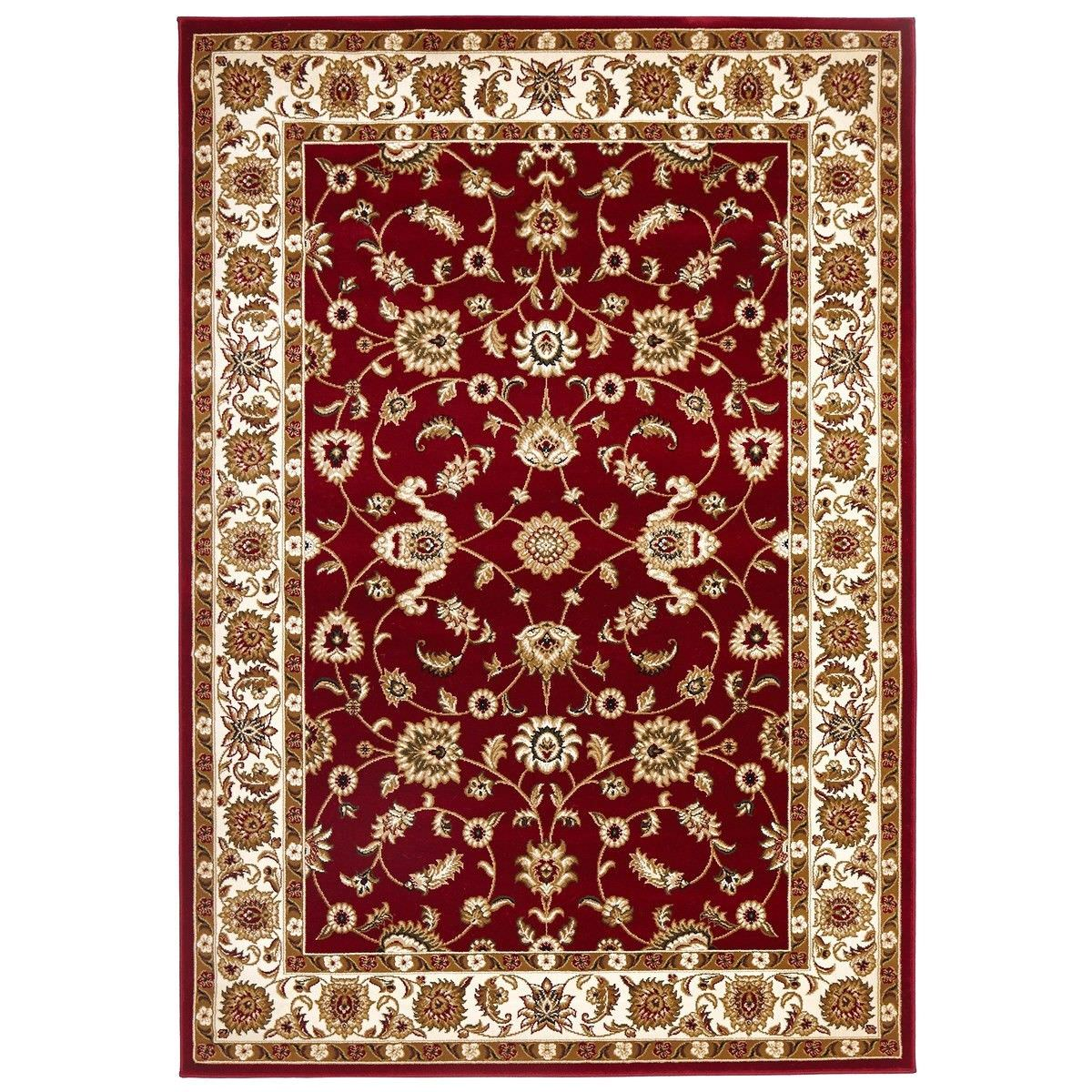 Sydney Classic Turkish Made Oriental Rug, 150x80cm, Red / Ivory