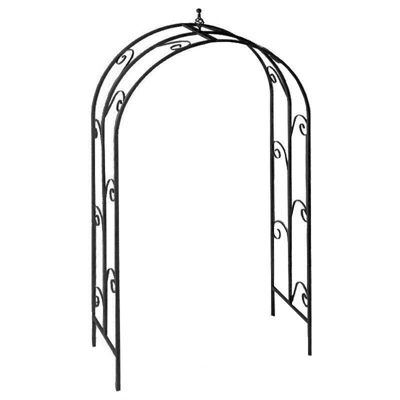Greenfield Iron Garden Arch, Black