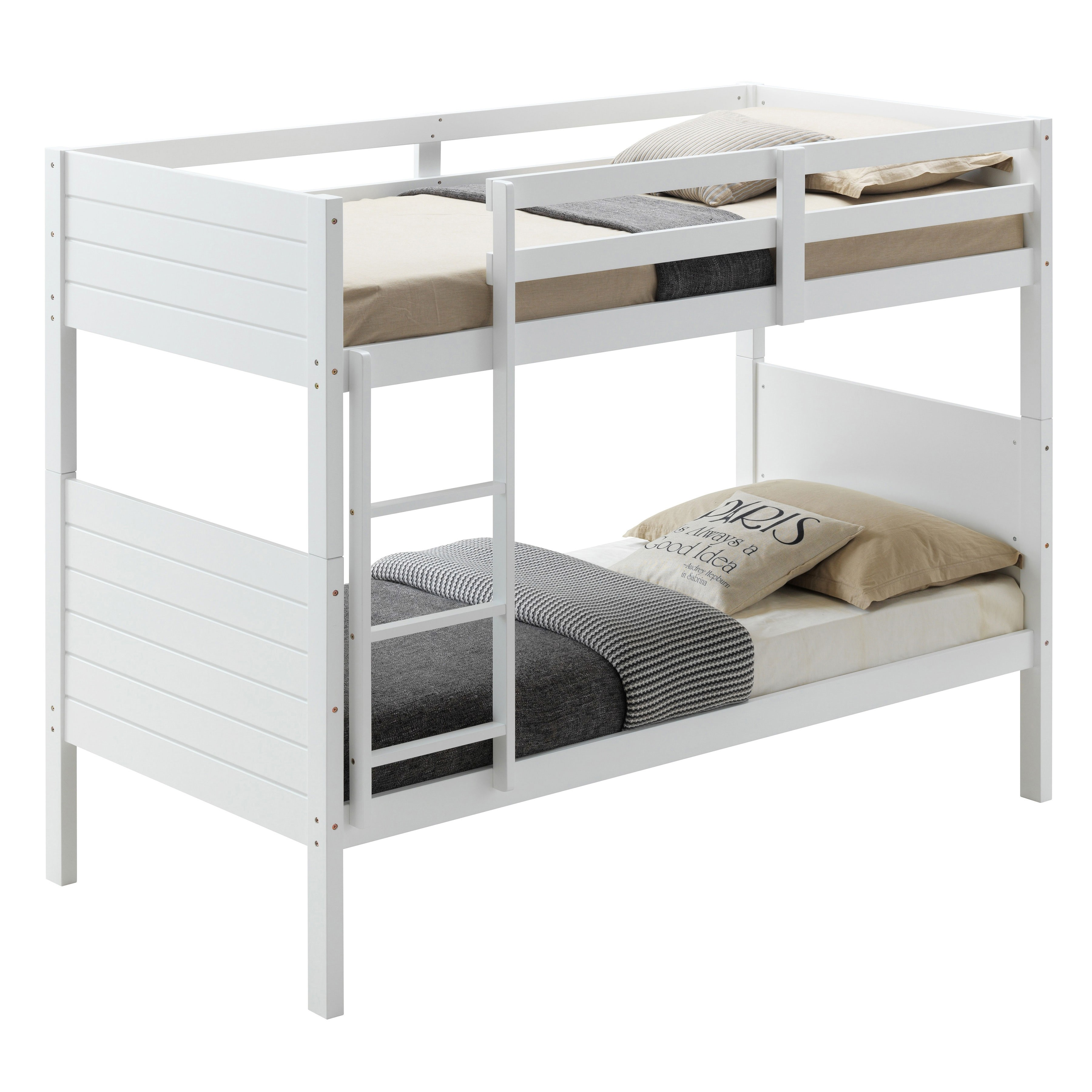 Welling Wooden Bunk Bed, Single, White