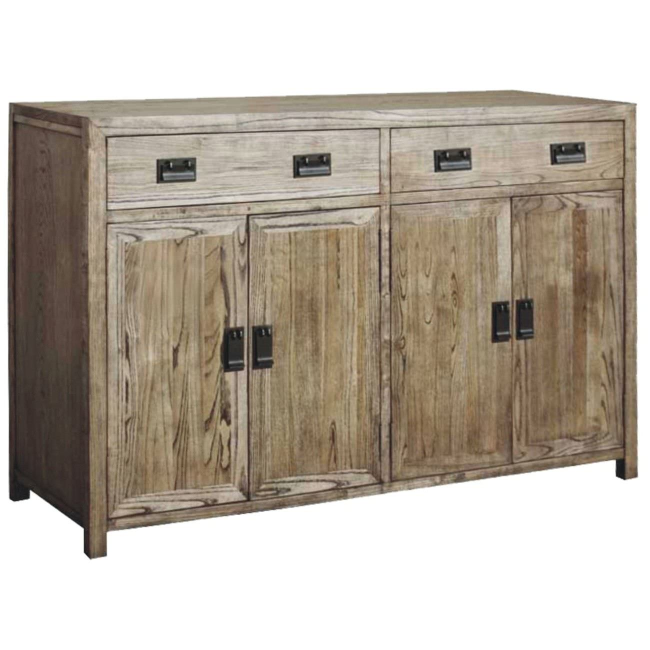 Sherwood Solid Oak Timber 4 Door 2 Drawer 180cm Sideboard