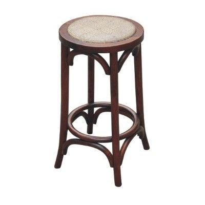 Sherwood Solid Oak Timber Counter Stool with Rattan Seat, Distressed Honey