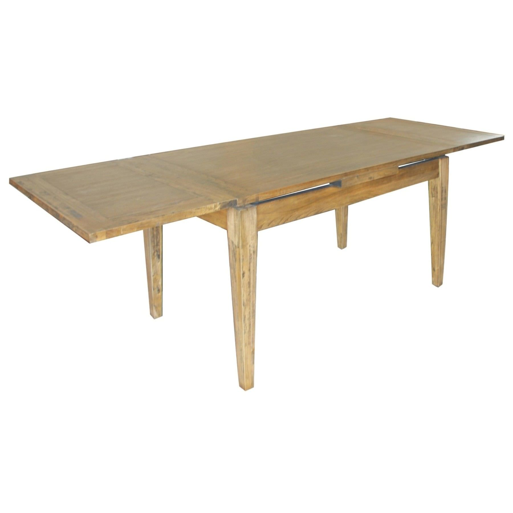 Sherwood Oak Timber 90-165cm Extensible Dining Table