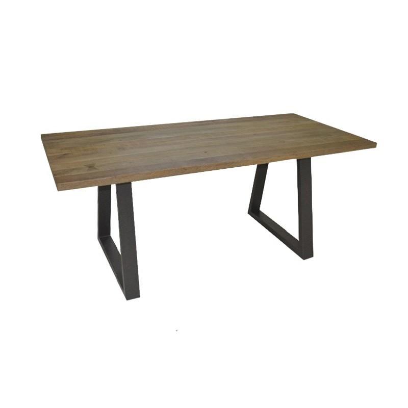 Udall Mango Wood & Metal Dining Table, 180cm