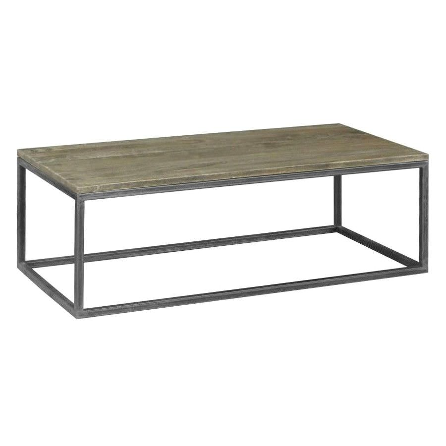 Byrne Mango Wood & Metal Coffee Table, 120cm