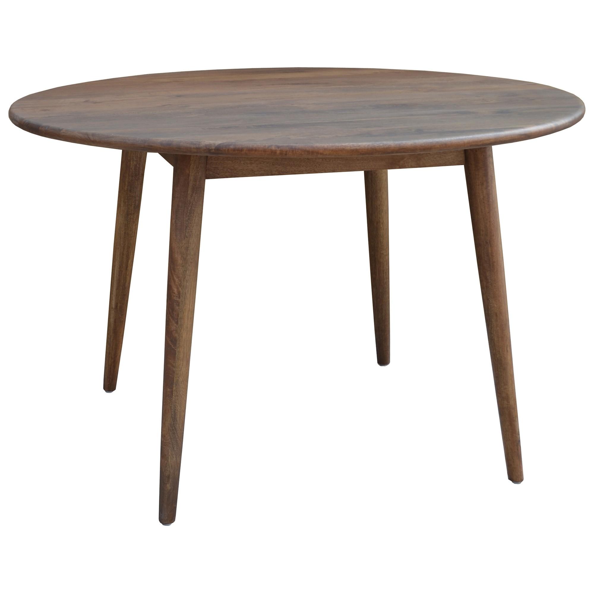 Stuart Solid Mango Wood Timber 120cm Round Dining Table