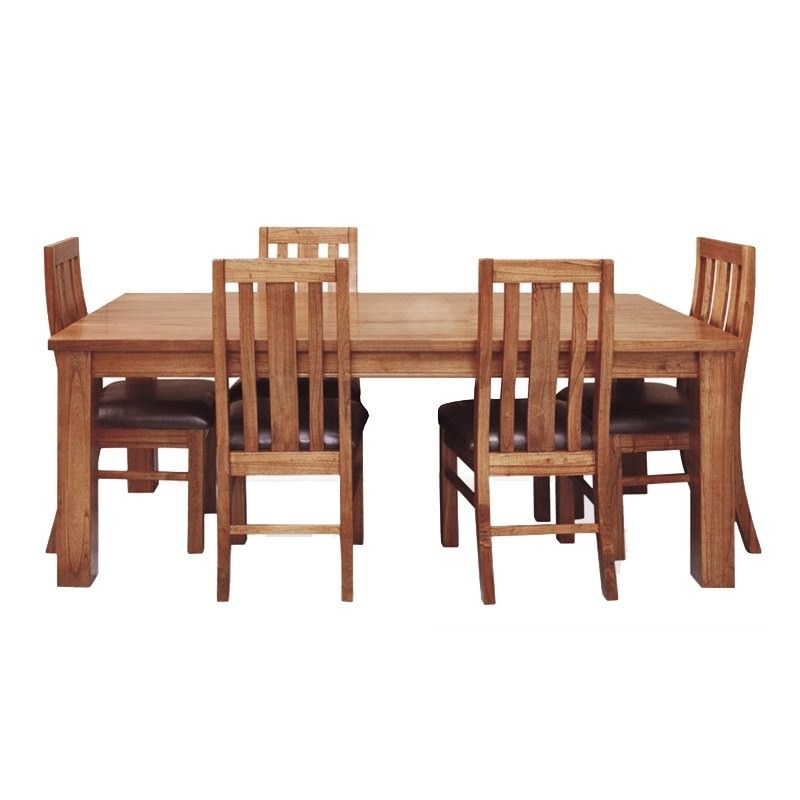 Cooper Solid Mountain Ash Timber Dining Table (Table Only), 190cm