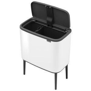 Brabantia BO Touch Waste Bin, 11/23L, White