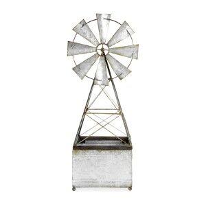 Bram Metal Windmill Planter