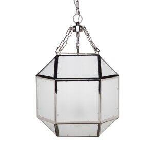 Arena Metal & Glass Pendant Light, Medium, Nickel