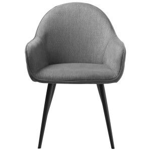 Minto Fabric Dining Armchair, Grey