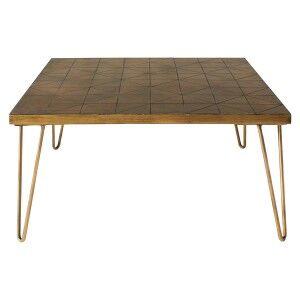 Pompeii Ceramic Tile Top Square Coffee Table, 80cm