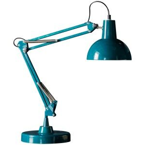 Watson Metal Table Lamp, Teal