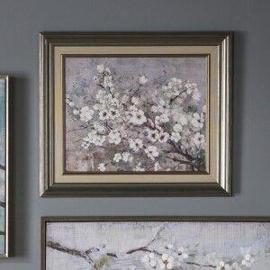 Blue Sakura Framed Wall Art, 50cm