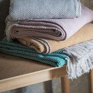 Barkot Twill Cotton Throw, 150x125cm, Teal