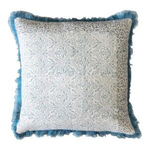 Niamh Feather Filled Cotton Scatter Cushion, Teal