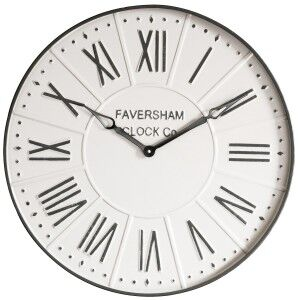 Burnett Metal Round Wall Clock, 60cm, Mirage Grey