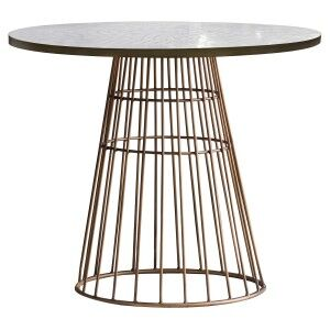 Teddington Ceramic Tile Top Round Alfresco Bistro Table , 90cm