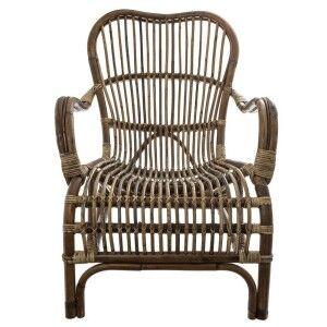 Seville Rattan Lounge Armchair, Natural