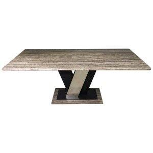Vuitton Travertine Stone Dining Table, 200cm