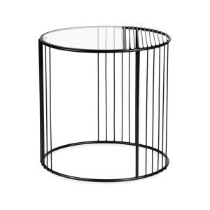 Pisello Metal & Glass Round Side Table