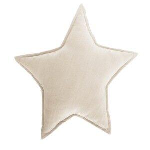 Noosa Organic Cotton Star Cushion, Beige