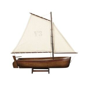 Madeira Y3 Hand Carved Sailboat Model