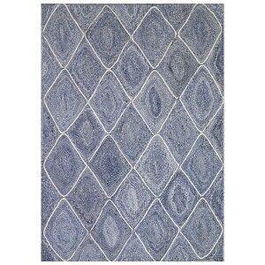 Artisan Diamond Handmade Jute Rug, 320x230cm, Denim