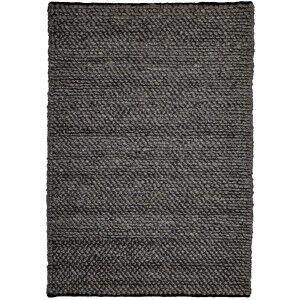Aspen Handwoven Wool Rug, 225x155cm, Ash