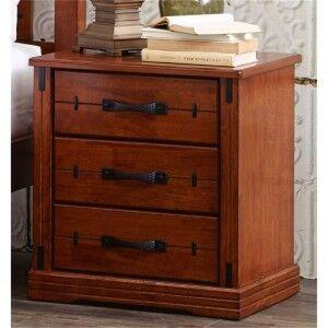 Dario Solid Hardwood Timber Bedside Table