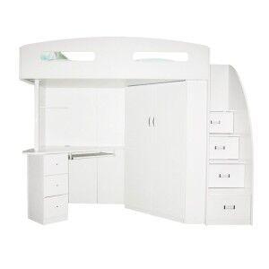 Kalora Loft Bed, Single, White